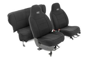 Interior - Seat Covers - Rough Country - Jeep Neoprene Seat Cover Set, Black (84-96 XJ) - 91021