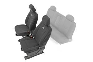 Interior - Seat Covers - Rough Country - Chevy Neoprene Front Seat Covers, Black (14-18 Silverado 1500) - 91024