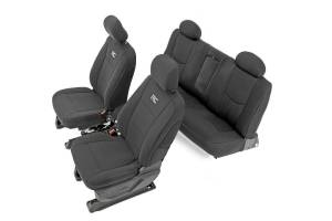 Interior - Seat Covers - Rough Country - Chevy Neoprene Front & Rear Seat Covers, Black (14-18 Silverado 1500) - 91025
