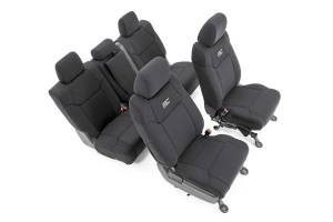 Interior - Seat Covers - Rough Country - Toyota Neoprene Front & Rear Seat Covers (14-20 Tundra, Crew Cab) - 91027