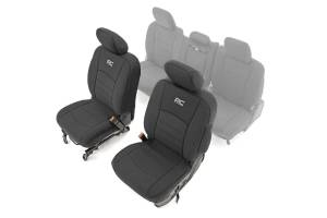 Interior - Seat Covers - Rough Country - Dodge Neoprene Rear Seat Covers (09-18 Ram 1500) - 91028