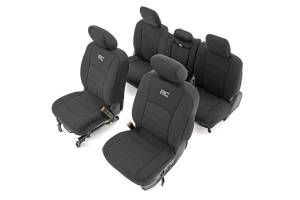 Interior - Seat Covers - Rough Country - Dodge Neoprene Front & Rear Seat Covers (09-18 Ram 1500) - 91029