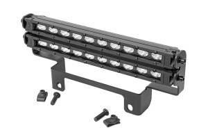 Lighting - Grille Light Kits - Rough Country - Honda Dual 10-inch Slimline LED Bumper Kit (16-20 Pioneer 1000) - 92004