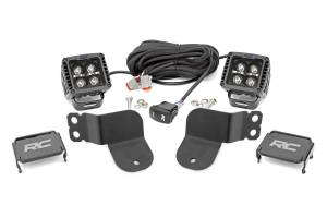 Lighting - Interior Lights - Rough Country - Polaris Dual LED Cube Kit - Black Series w/ Amber DRL (16-20 General) - 93024