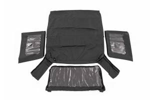Jeep Tops & Parts - Soft Tops - Rough Country - Jeep Replacement Soft Top, Black (10-18 Wrangler JK 2 Door) - RC85460.35