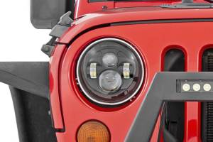 Lighting - Headlights - Rough Country - Jeep 7in LED Projection Headlights (Wrangler TJ, JK) - RCH5000