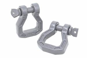 Bumpers - Bumper Accessories - Rough Country - Forged D-Ring Set (Gray, Pair) - RS122
