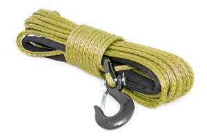 Winch & Recovery - Winch Accessories - Rough Country - Synthetic Winch Rope - Army Green - RS137