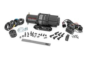 Winch & Recovery - Winch Accessories - Rough Country - 4500lb UTV/ATV Electric Winch w/ Synthetic Rope - RS4500S