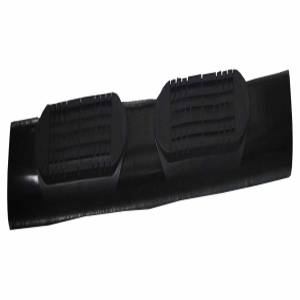 With Step Pads 4 In Oval Straight Powder Coated Black Mild Steel With Welded End - A1545T