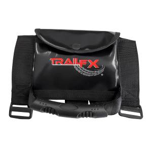 Interior - Grab Handles - TrailFX - Set Of 2 Mounts To 2-3 Inch Roll Bar Black With Trail FX Logo On Pouch - J049