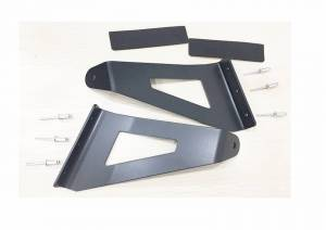 Light Bars - Light Bar Mounting Kits - TrailFX - Windshield Mount One 54 In Double Row Curved Light Bar Pwdr Ctd Black Steel - MBF03B