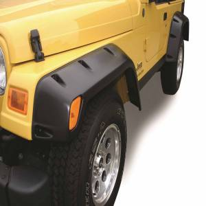 TrailFX - 2 In Tire Coverage Flat Style Textured Black ABS Plastic Without LED Lights Set - PFFJ3001T - Image 3