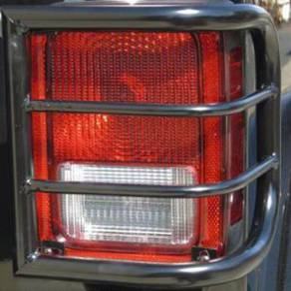 Tail Lights - Tail Light Accessories - TrailFX - Bar Style Powder Coated Black Steel Set of 2 - T0015B