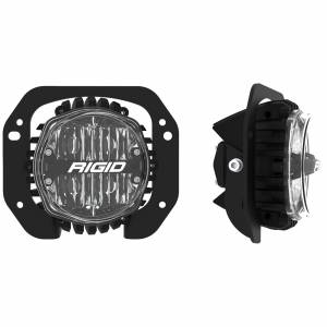 RIGID Industries - 18+ RUBICON/GLADIATOR 1 PC PLASTIC BUMPER FOG MOUNT KIT W/360-SERIES 4IN SAE YLW - 37107