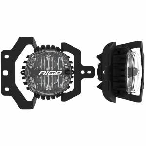 RIGID Industries - 2018+ JEEP JL SPORT and SPORT S FOG MOUNT KIT W/1 SET 360-SERIES 4IN SAE WHT - 37108