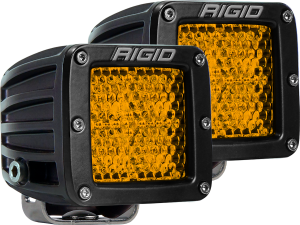 Light Pods - Light Pods - RIGID Industries - D-SERIES DIFFUSED REAR FACING HIGH/LOW SM AMBER SET OF 2 - 90151