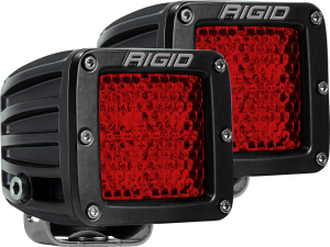 Lighting - Lighting Accessories - RIGID Industries - D-SERIES DIFFUSED REAR FACING HIGH/LOW SM RED SET OF 2 - 90153