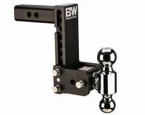 "Towing - Towing Accessories - B&W Trailer Hitches - B&W Tow And Stow Tri Ball 2"" Adj Ball Mount 5"" Drop/5-1/2"" Rise, Black - TS10040B"
