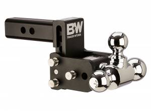"Towing - Adjustable Ball Hitches - B&W Trailer Hitches - 2"" Tow & Stow 3"" Drop Triball Black - TS10047B"