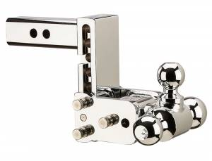 "Towing - Adjustable Ball Hitches - B&W Trailer Hitches - 8"" Chrome T&S, Tri-Ball-Boxed - TS10048C"