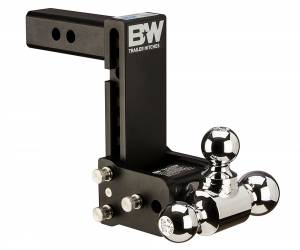 "Towing - Adjustable Ball Hitches - B&W Trailer Hitches - 10"" Blk T&S, Tri-Ball-Boxed - TS10049B"