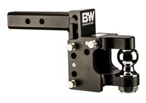"Towing - Adjustable Ball Hitches - B&W Trailer Hitches - 8"" Blk T&S, 2"" Ball Pintle - TS10055"