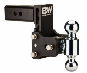 Towing - Adjustable Ball Hitches - B&W Trailer Hitches - 2.5 Model 8 Blk T&S Dual Ball - TS20037B