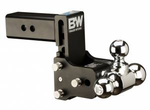 Towing - Adjustable Ball Hitches - B&W Trailer Hitches - 2.5 Model 8 Blk T&S Tri Ball - TS20048B
