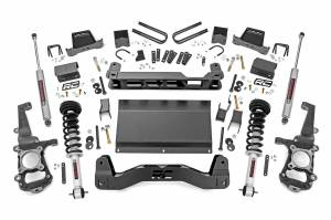"""Rough Country 6"""" 2021 Ford F-150 4WD Lift Kit with Lifted Struts and V2 Monotube Shocks 58771"""