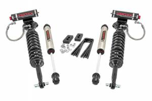 """Rough Country 2"""" 2021 Ford F-150 4WD Lift Kit with Vertex Coilover Struts and V2 Monotube Shocks 58657"""