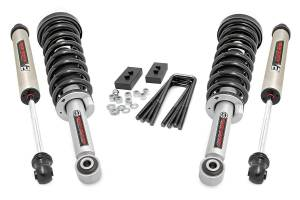 """Rough Country 2"""" 2021 Ford F-150 4WD Lift Kit with Lifted N3 Struts and V2 Monotube Shocks 57171"""