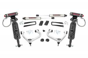 """Rough Country 3"""" 2021 Ford F-150 Bolt On Arm Vertex Adjustable Coilovers V2 Monotube Shocks Lift Kit 57757A"""
